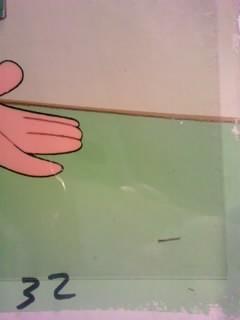 希少レア 1973年日本テレビ放送版 「ドラえもん」 のび太 背景付きセル画_画像3