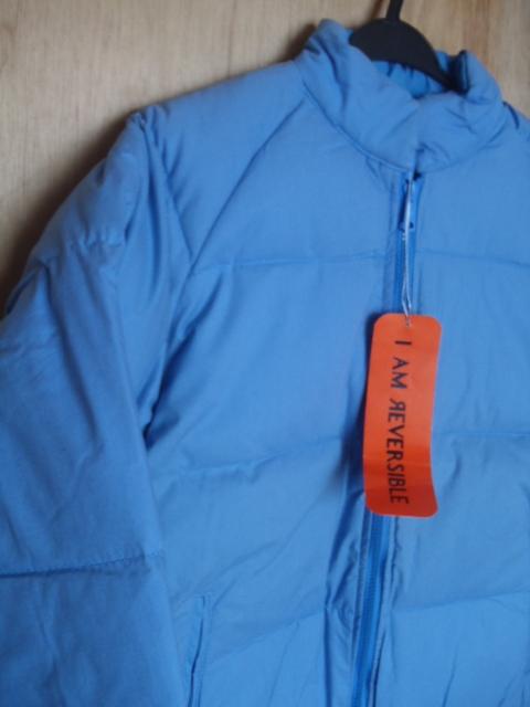 ダウンジャケット リバーシブル ★防寒着 スキーウェア スノボウェア M 薄ブルー 「経年」未使用品 ★現状渡し 上着_画像5