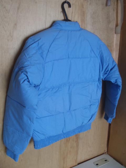 ダウンジャケット リバーシブル ★防寒着 スキーウェア スノボウェア M 薄ブルー 「経年」未使用品 ★現状渡し 上着_画像6
