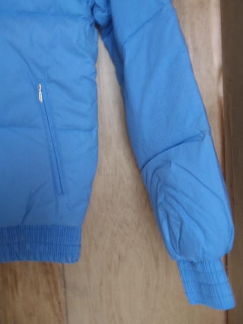 ダウンジャケット リバーシブル ★防寒着 スキーウェア スノボウェア M 薄ブルー 「経年」未使用品 ★現状渡し 上着_画像7