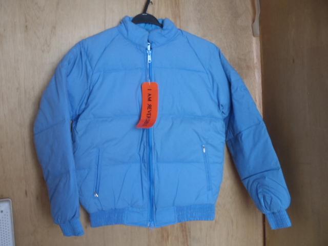 ダウンジャケット リバーシブル ★防寒着 スキーウェア スノボウェア M 薄ブルー 「経年」未使用品 ★現状渡し 上着_画像1