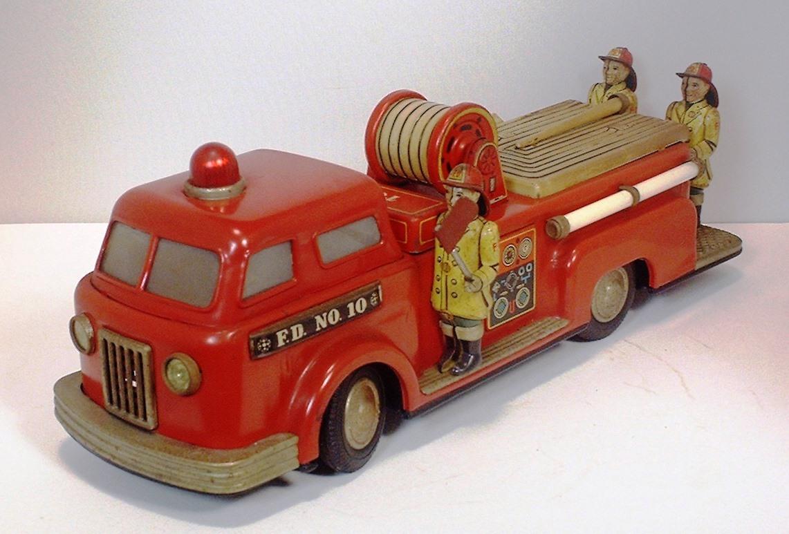 ■■消防車 FIRE ENGINE ■1950年代当時物 TN(野村トーイ)製 ■■
