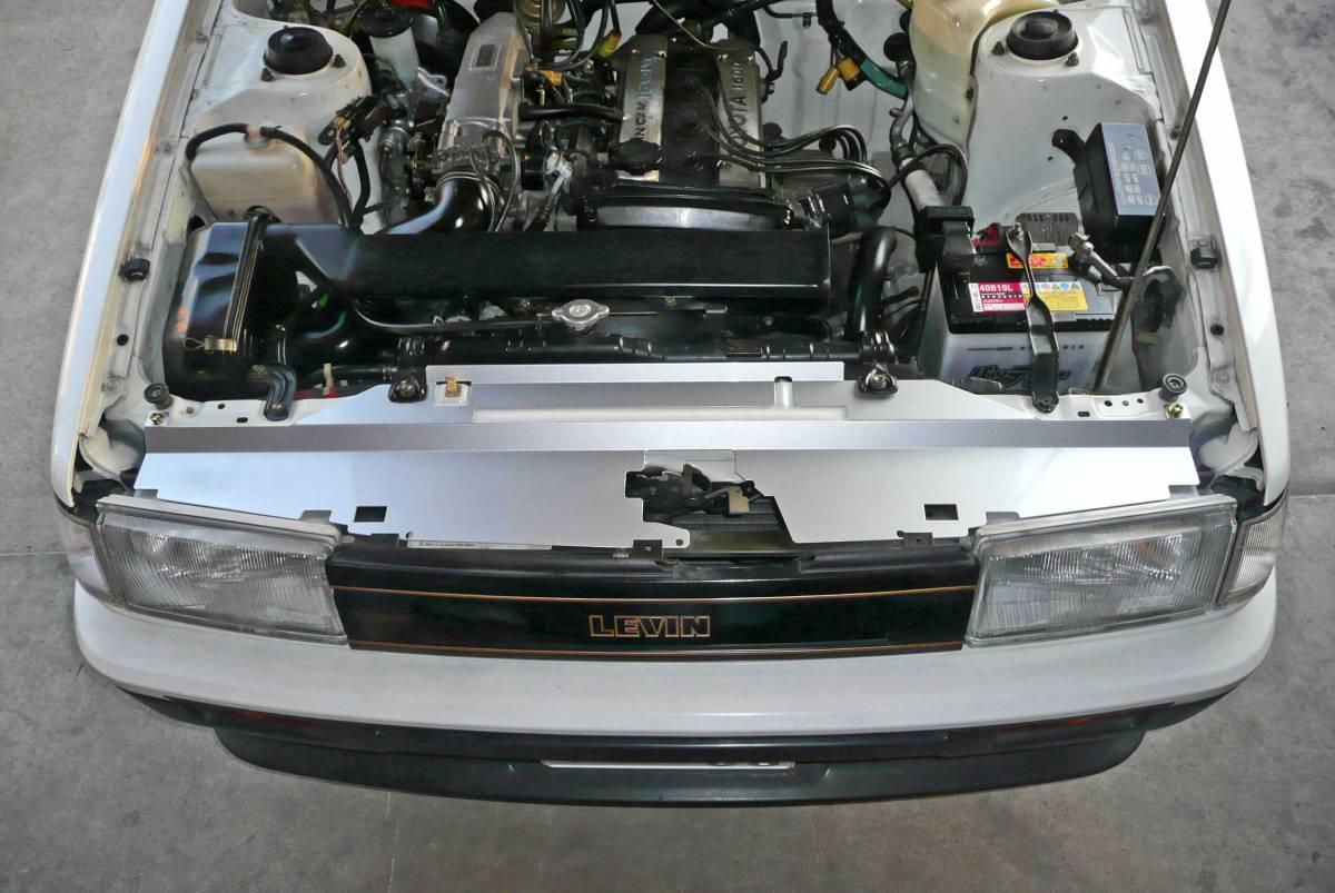 ★AE86レビン用ラジエーターフードパネル 4AG クーリングパネル/エンジン冷却/浮谷 ハチロク★_前期型レビンAPEX装着後
