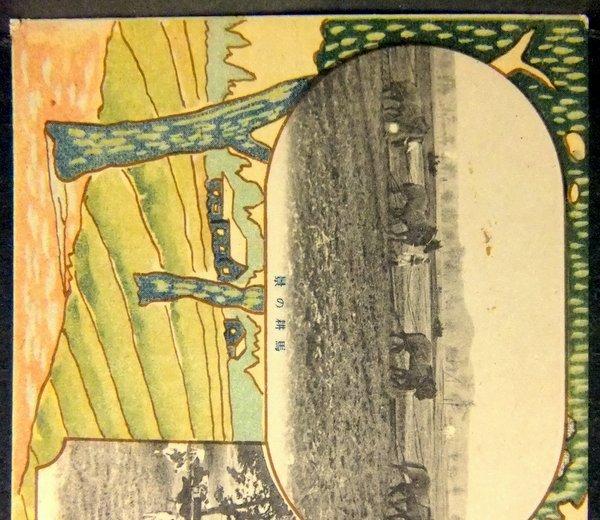 戦前 絵葉書 馬耕の景,放牧の景 北海道廳  / 北海道庁 農業 家畜 牛_画像6