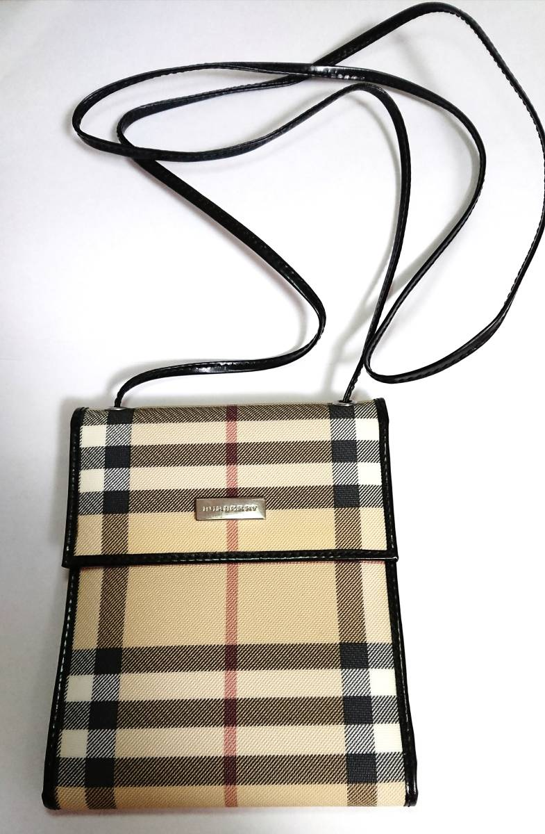562773b3af03 代購代標第一品牌- 樂淘letao - 美品バーバリーノバチェックショルダーウォレット財布