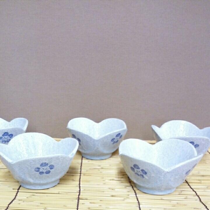 昭和レトロ■梅柄 小鉢 5個