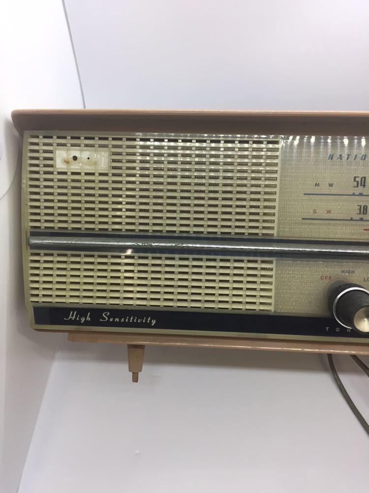 (CG) ナショナルラジオ レトロ ジャンク 真空管 アンティーク_画像3