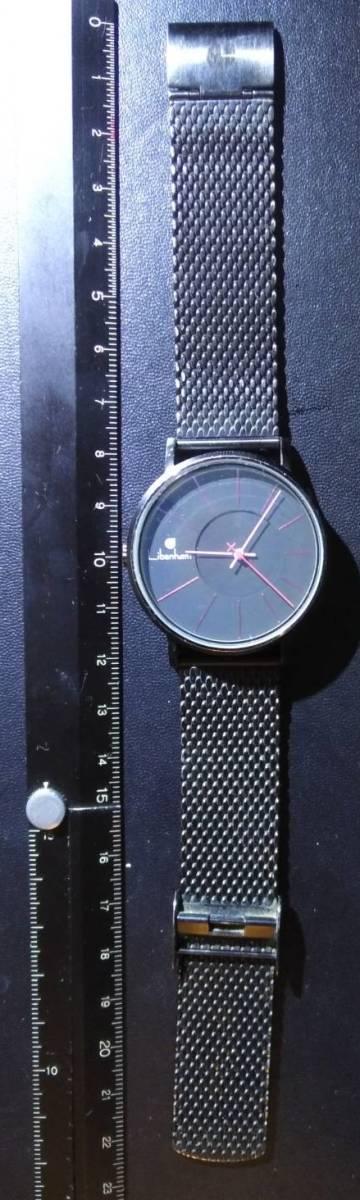 中古 Libenham アナログ腕時計 手巻き 自動巻き 黒 ブラック ステンレス拍卖