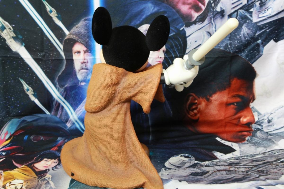 WDW ディズニー・ワールド限定品 スター・ウォーズ ジェダイの騎士&ミッキーマウス コラボレーション ビッグフィギュア ライトセーバー_画像5