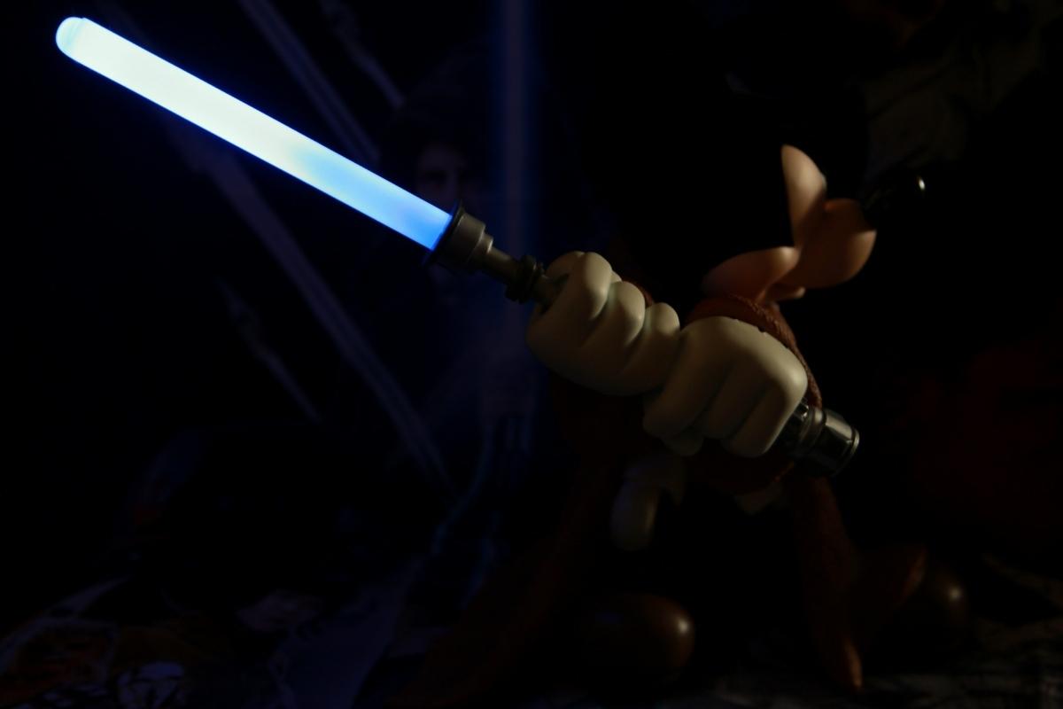 WDW ディズニー・ワールド限定品 スター・ウォーズ ジェダイの騎士&ミッキーマウス コラボレーション ビッグフィギュア ライトセーバー_画像8