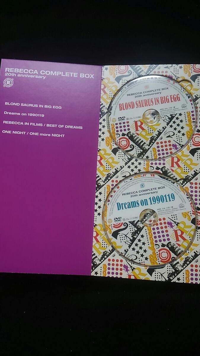 レベッカ COMPLETE BOX 20th anniversary REBECCA DVD 土橋安騎夫 完全生産限定盤 ステッカー NOKKO自筆の歌詞 ライブ アルバム_画像6