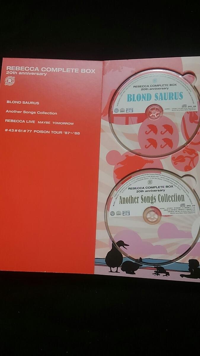 レベッカ COMPLETE BOX 20th anniversary REBECCA DVD 土橋安騎夫 完全生産限定盤 ステッカー NOKKO自筆の歌詞 ライブ アルバム_画像5