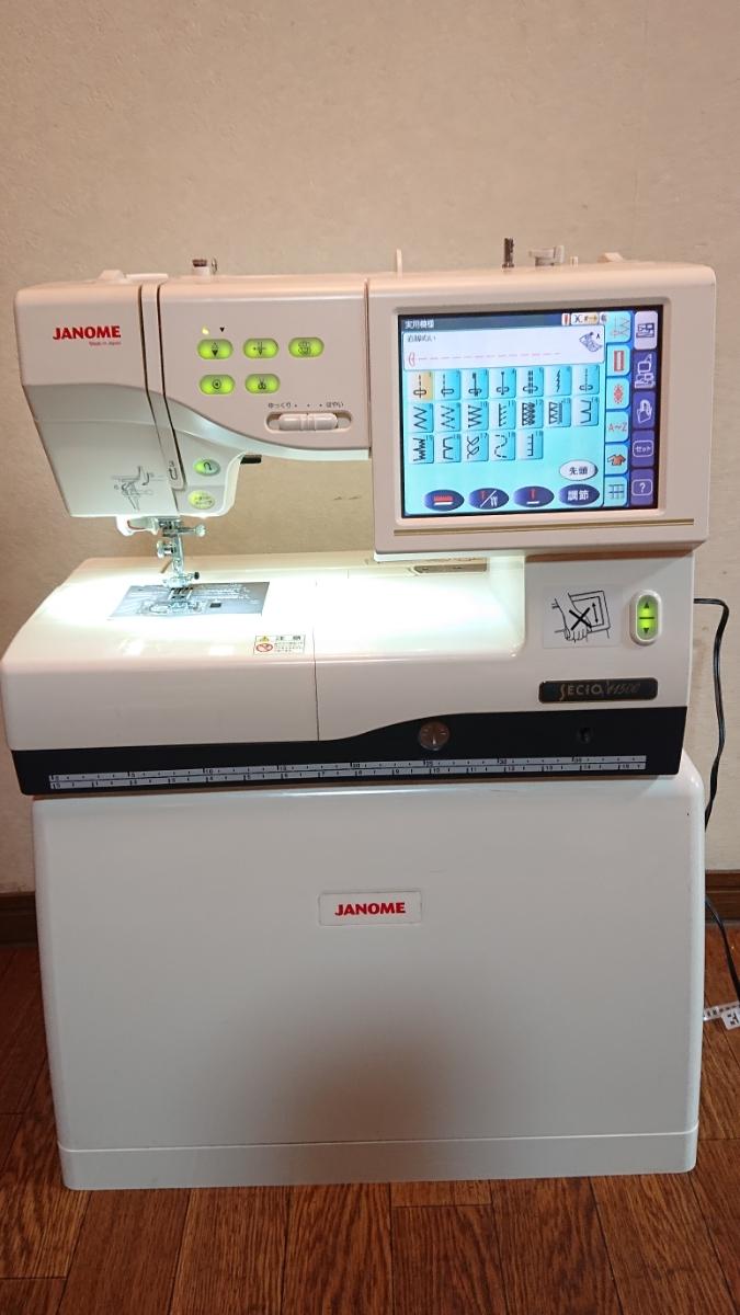 送料無料 ジャノメミシン 刺繍 SECIO セシオ 11500 ジャンク