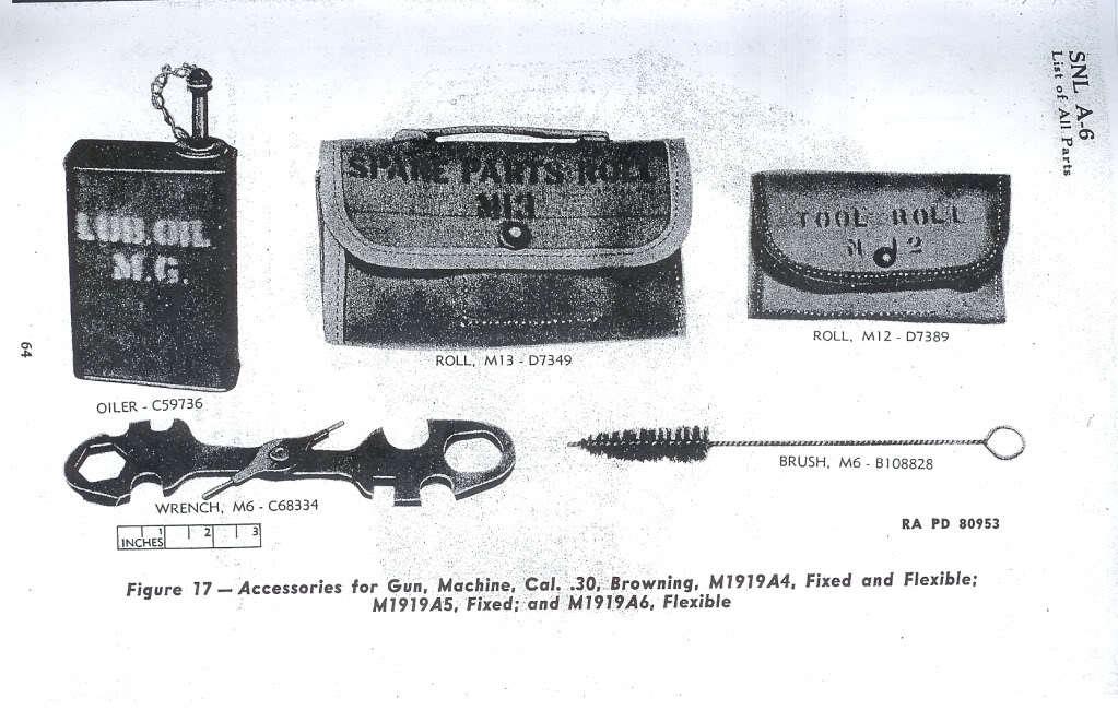 WW2 米軍 機関銃用 油缶 オイル缶 オイラー 実物_WW2時の備品リストに掲載されたイラスト図