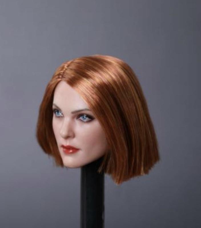 送料無料TBLeague1/6スケール女性素体専用ヘッドパーツ GC019E 高品質植毛_画像2