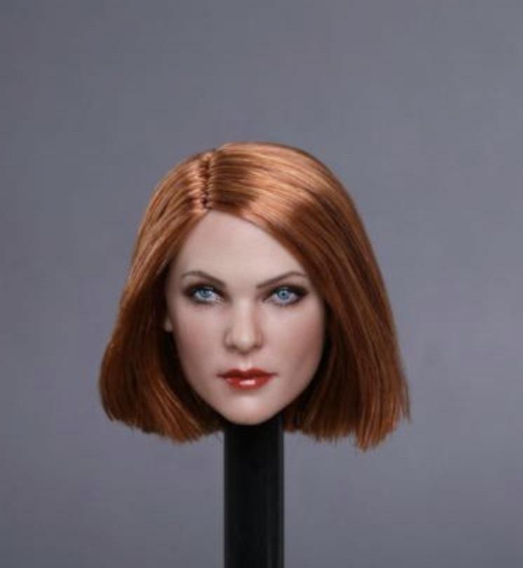 送料無料TBLeague1/6スケール女性素体専用ヘッドパーツ GC019E 高品質植毛_画像1