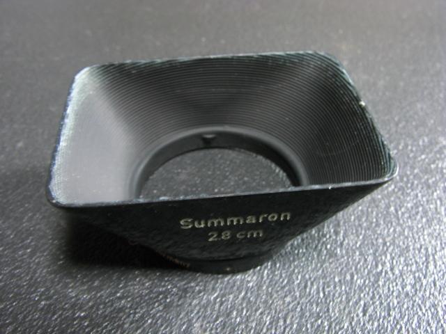 ズマロン28mmのレンズフード ライツ_画像2