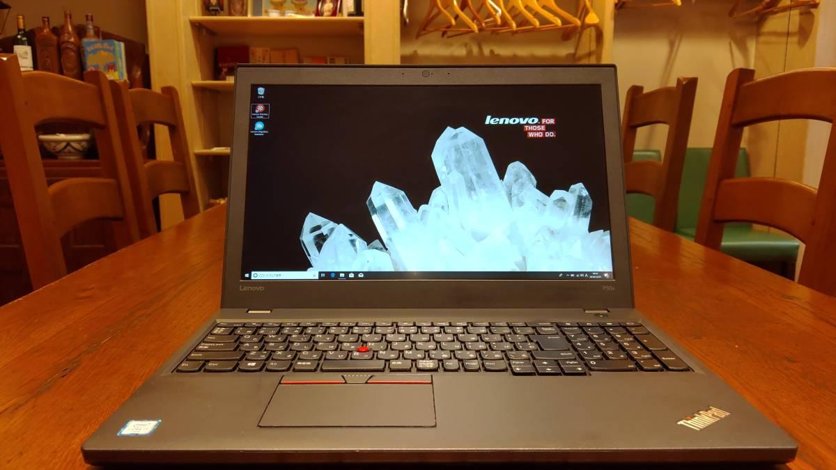 上位モデル 高速SSD lenovo ThinkPad P50s Core i7-6500U 8G SSD512GB Quadro K2100M フルHD office2016