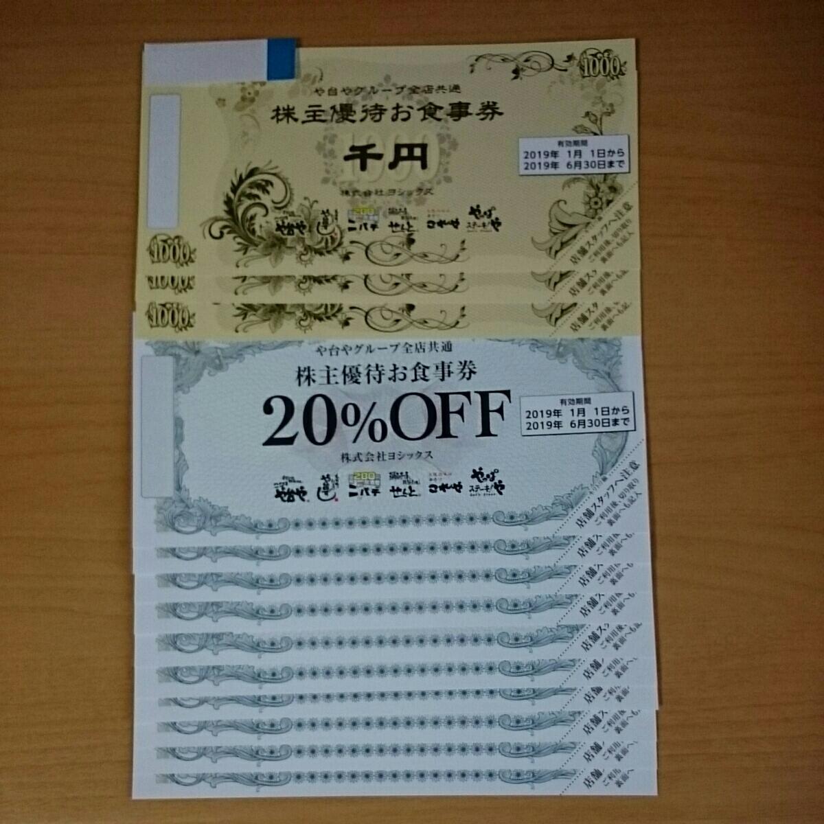 ヨシックス株主優待券3,000円+20%OFF券10枚