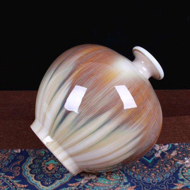 花瓶 中国陶磁器 瀬戸物 景徳鎮 陶器/花器 飾り瓶 陶器 賞瓶 文斎賞物 置物 唐物 花壺 花入 陶芸_画像3