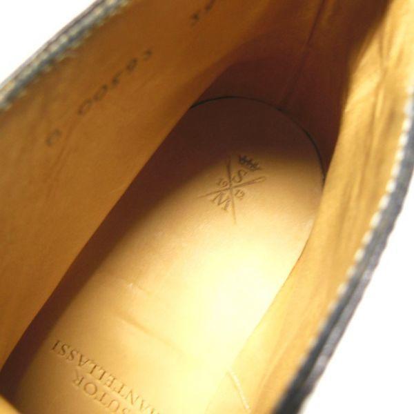 ブルーソールの艶☆新品 ストールマンテラッシ SUTOR MANTELLASSI レザーブーツ ブラック 39ハーフ(2886)_画像7