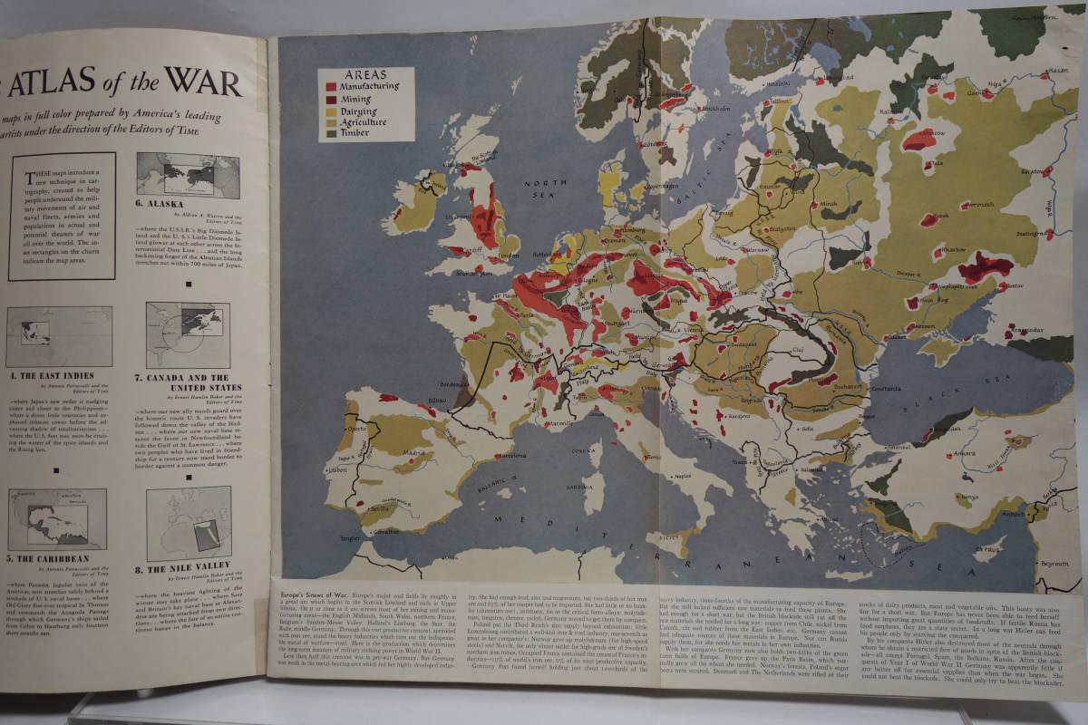 戦時資料 TIME'S ATLAS OF THE WAR タイム 1945年頃_画像6