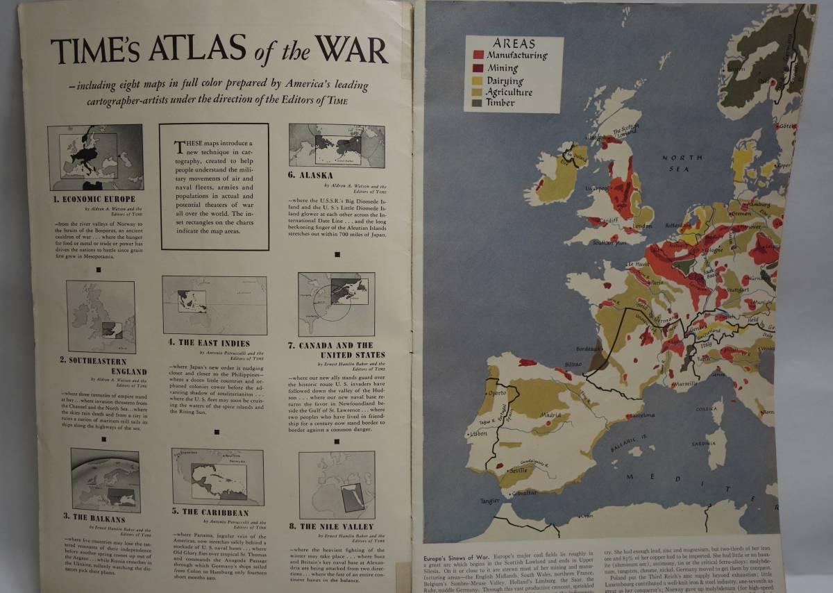 戦時資料 TIME'S ATLAS OF THE WAR タイム 1945年頃_画像2