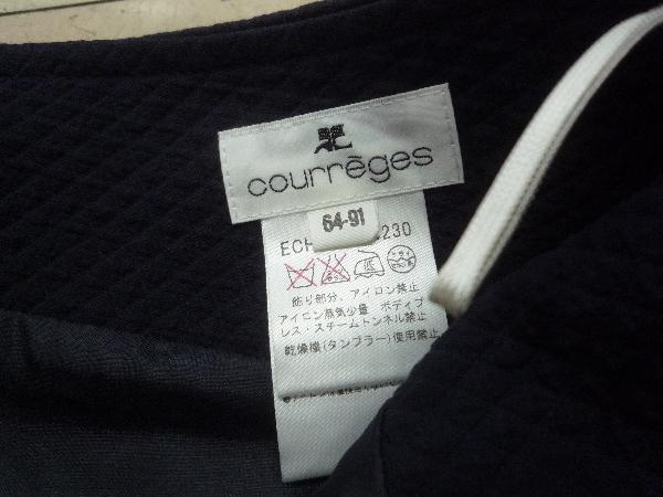 クレージュ courreges☆凸凹 ダイヤ柄 タイトスカート☆程度良好♪W64_画像6