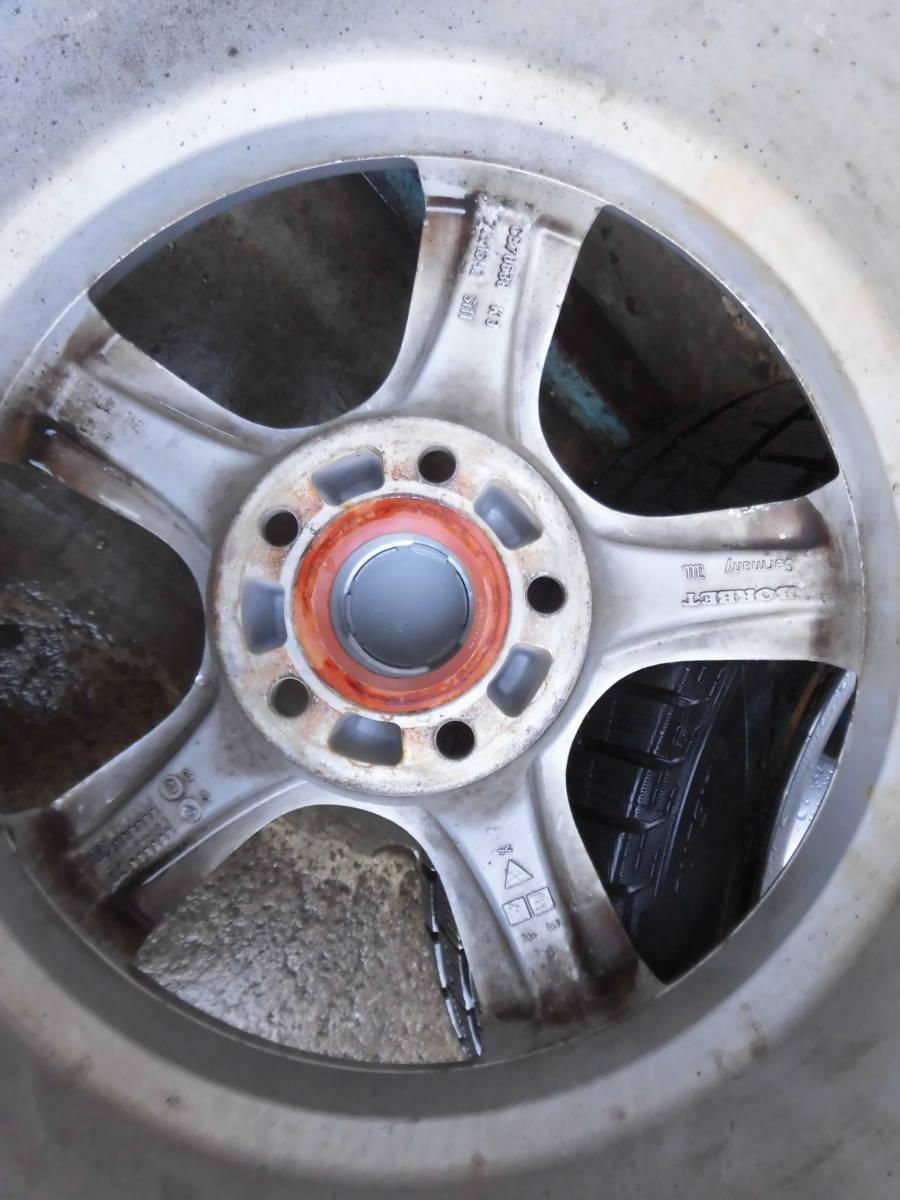 《BORBETアルミ+スタッドレス》4本 VWトゥーランに履いてました。8分山上_画像4