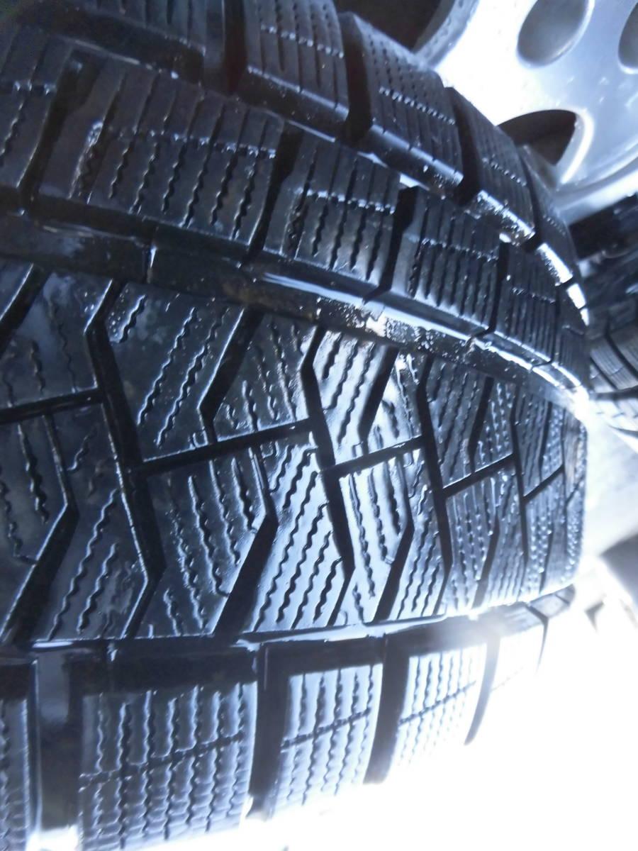 《BORBETアルミ+スタッドレス》4本 VWトゥーランに履いてました。8分山上_画像9
