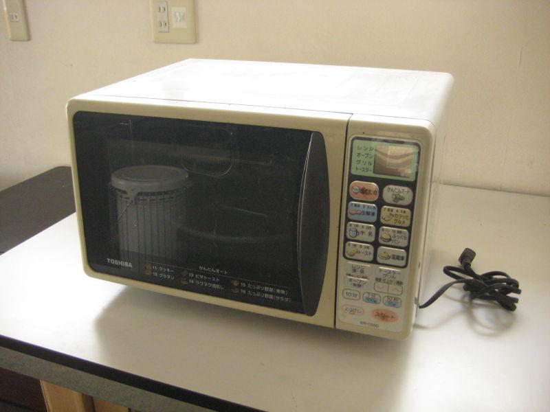 東芝製 電子レンジ ER-C03D(HS)  2001年製 動作品_画像2