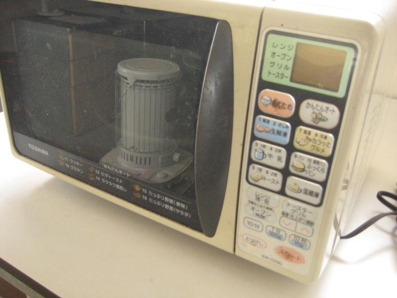 東芝製 電子レンジ ER-C03D(HS)  2001年製 動作品_画像3