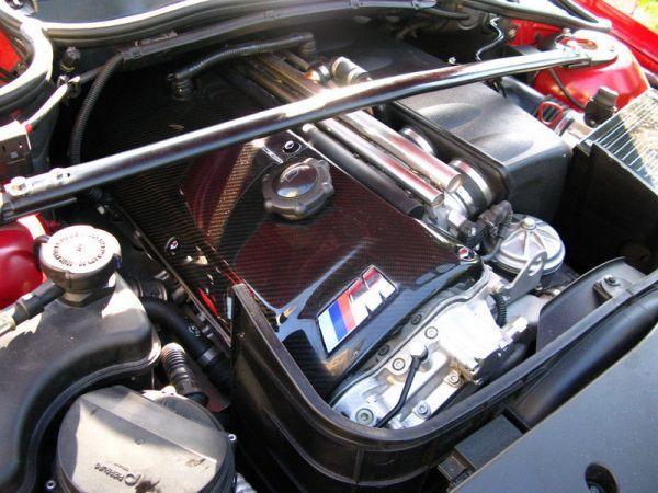 人気●BMW E46M3 E40Z4M専用本物カーボンエンジンカバー シルキーシックス S54/綾織カーボン/在庫残りわずか 320 328 330_画像2