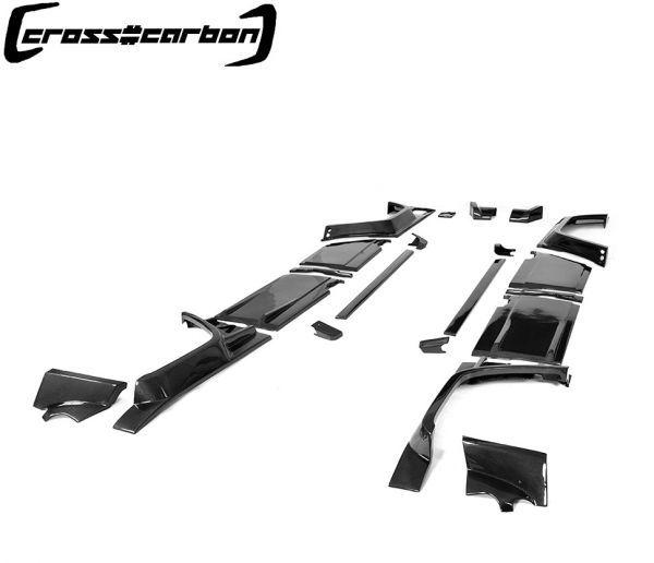 FRPタイプ◆ベンツ W463 Gクラスゲレンデ2013~18モデル用ブラバスタイルカーボンワイドボディーキット23点/G300/G350/G500/G55/G63/BRABU_画像3