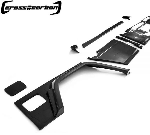 FRPタイプ◆ベンツ W463 Gクラスゲレンデ2013~18モデル用ブラバスタイルカーボンワイドボディーキット23点/G300/G350/G500/G55/G63/BRABU_画像4
