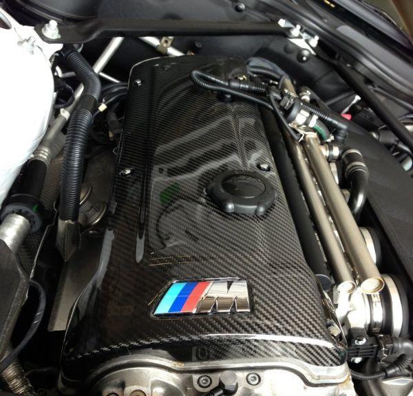 人気●BMW E46M3 E40Z4M専用本物カーボンエンジンカバー シルキーシックス S54/綾織カーボン/在庫残りわずか 320 328 330_画像1