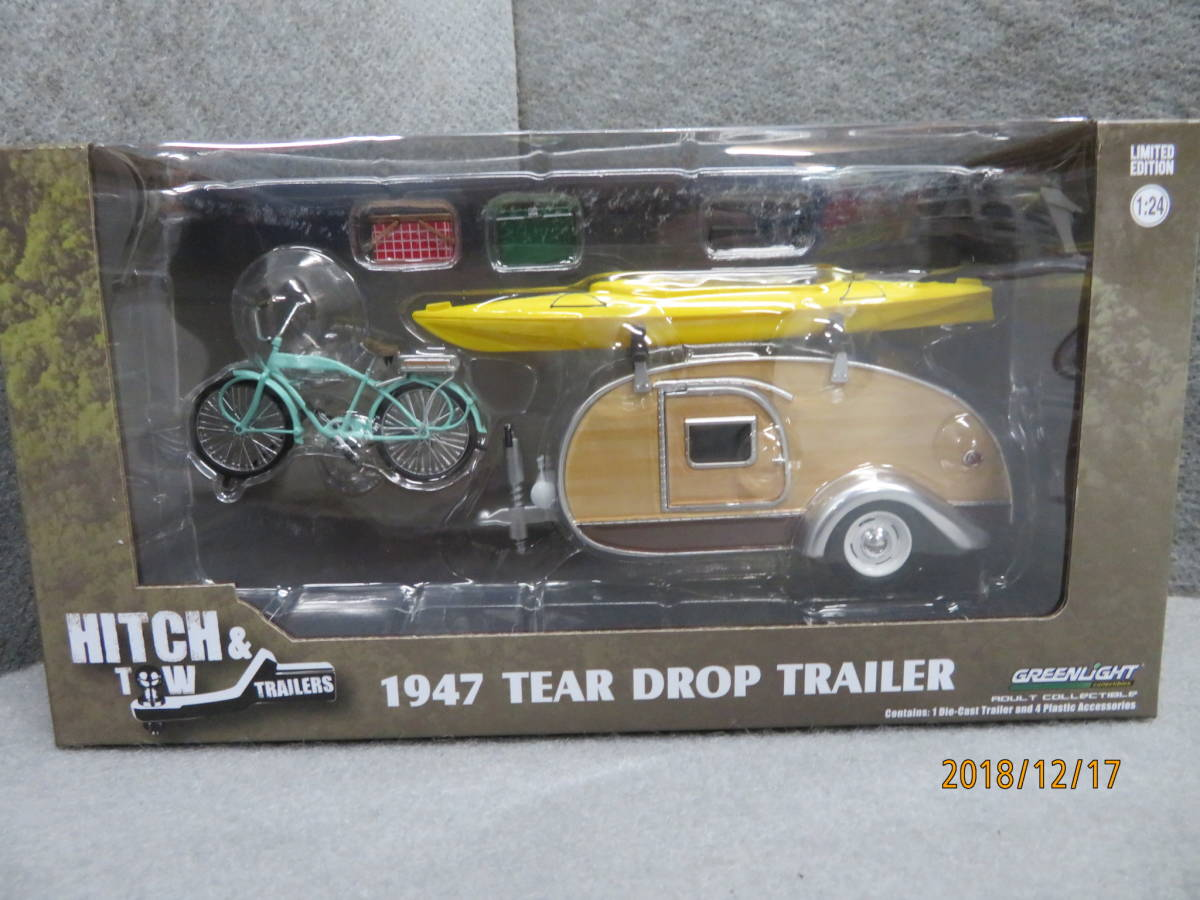 GREEN LIGHT 1/24 1947y TEARDROP TRAILER with ACCESSORIES B112_画像1