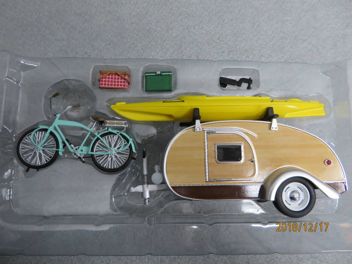 GREEN LIGHT 1/24 1947y TEARDROP TRAILER with ACCESSORIES B112_画像2