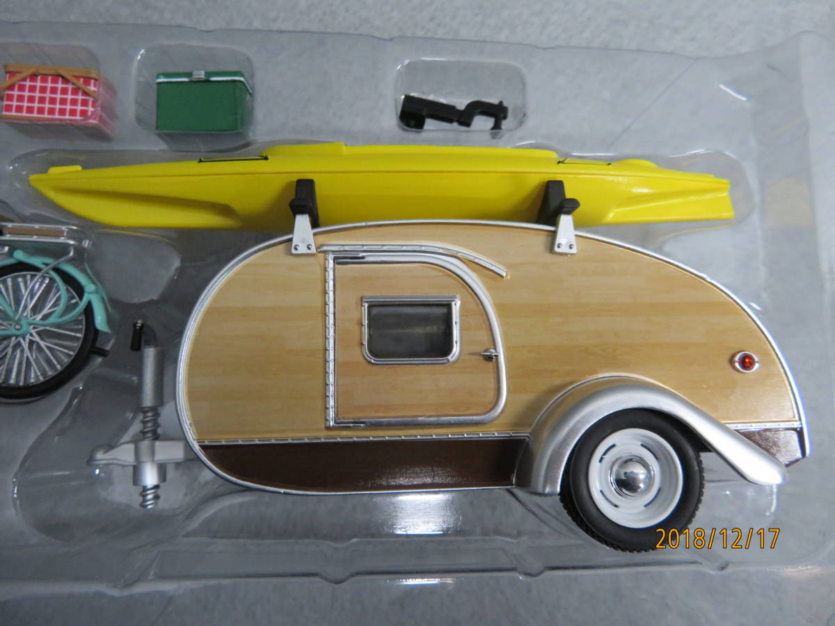 GREEN LIGHT 1/24 1947y TEARDROP TRAILER with ACCESSORIES B112_画像4