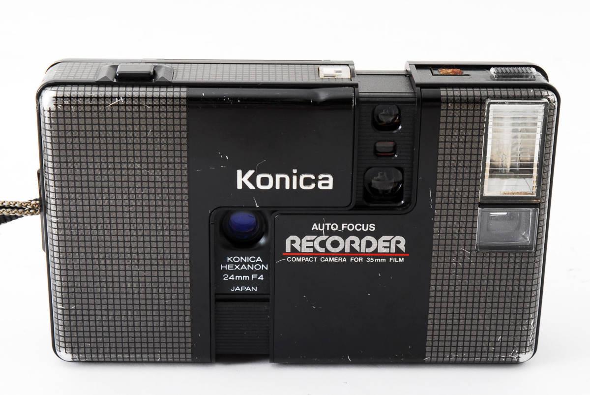 ★6月お値下げ★ Konica/コニカ RECORDER レコーダー body ボディ (HEXANON ヘキサノン 24mm F4) 訳あり #2725_画像2