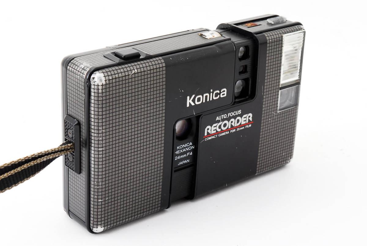 ★6月お値下げ★ Konica/コニカ RECORDER レコーダー body ボディ (HEXANON ヘキサノン 24mm F4) 訳あり #2725_画像3