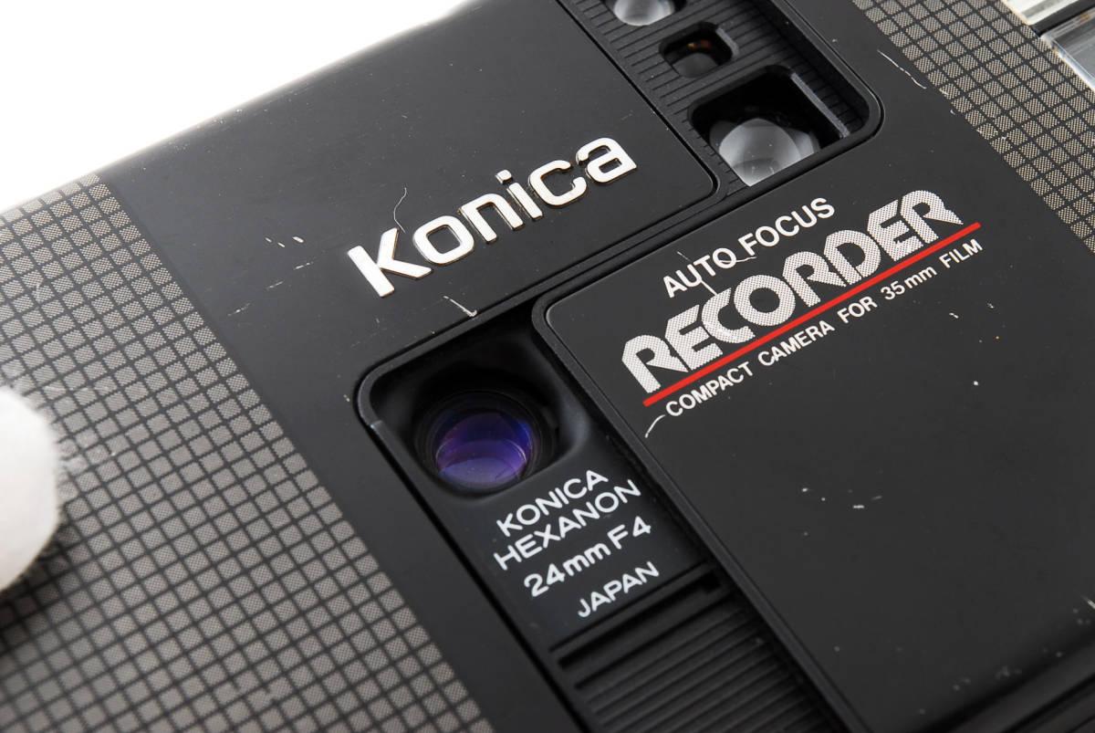★6月お値下げ★ Konica/コニカ RECORDER レコーダー body ボディ (HEXANON ヘキサノン 24mm F4) 訳あり #2725_画像4