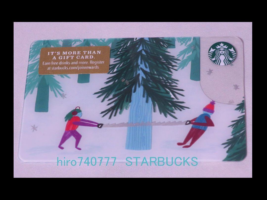 スターバックス・カード●北米限定●2018年クリスマス●クリスマスツリー ハンティング●ホリデー●海外スタバ