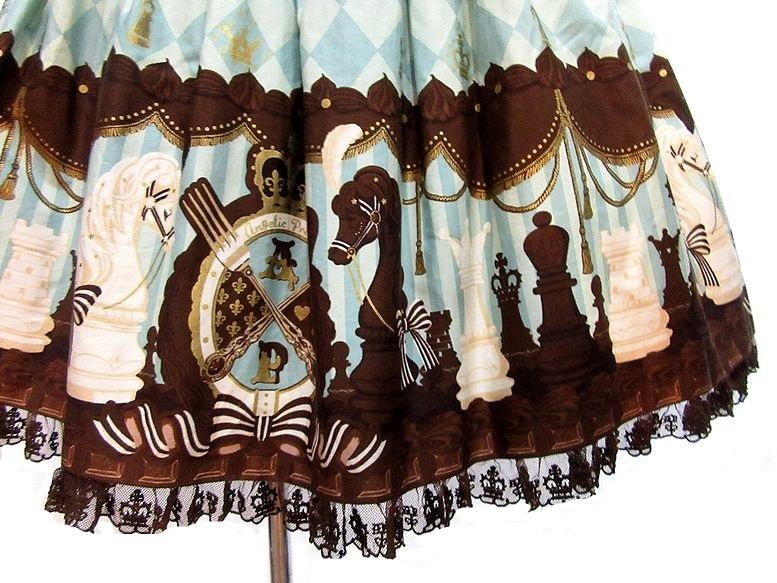 ボンネット付き Angelic Pretty Chess Chocolate ジャボ付ジャンパースカート JSK アンジェリックプリティ_画像4