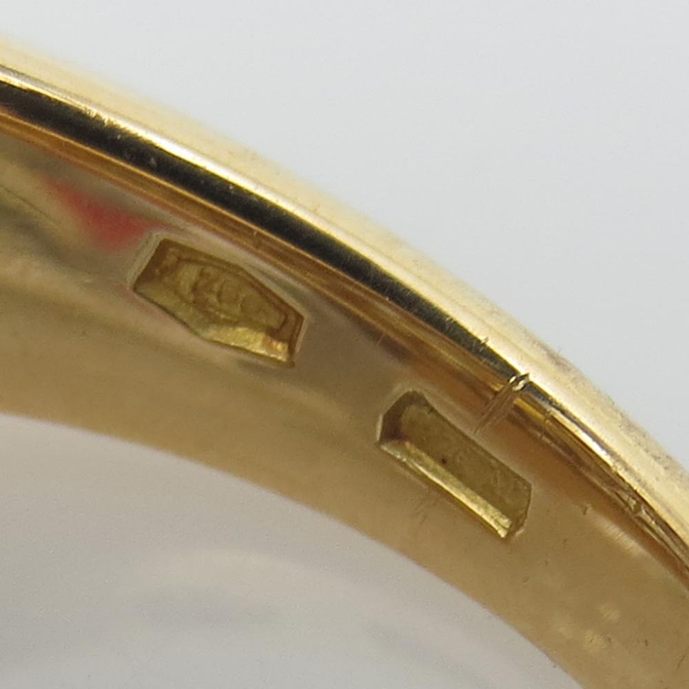 新古品《Somenzi 7ct ブラウン&ホワイトダイヤモンド》K18 カクテル・ハートリング指輪_画像7