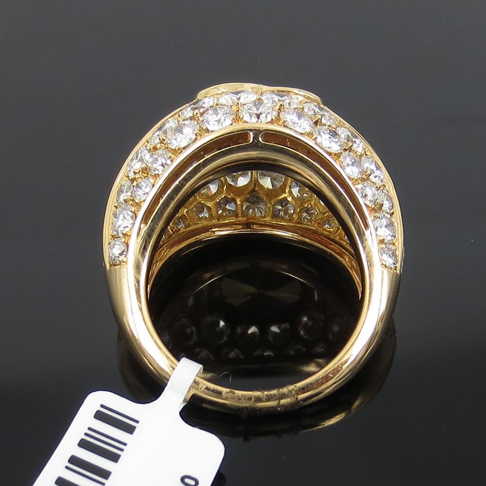 新古品《Somenzi 7ct ブラウン&ホワイトダイヤモンド》K18 カクテル・ハートリング指輪_画像3