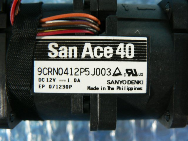 1ESY // SanAce40 9CRN0412P5J003 12V 1.0A 2個セット/ 4cmファン // HITACHI HA8000/RS210 AM1 取外 (NEC R120d-1E 類似) // 在庫9[11]_画像2