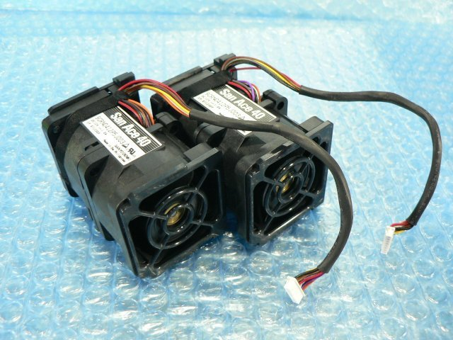 1ESY // SanAce40 9CRN0412P5J003 12V 1.0A 2個セット/ 4cmファン // HITACHI HA8000/RS210 AM1 取外 (NEC R120d-1E 類似) // 在庫9[11]_画像3