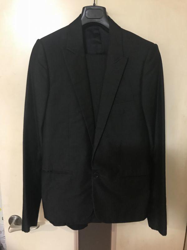 08 Dior homme ディオールオム セットアップ スーツ ジャケット メンズ シルク混合_画像1