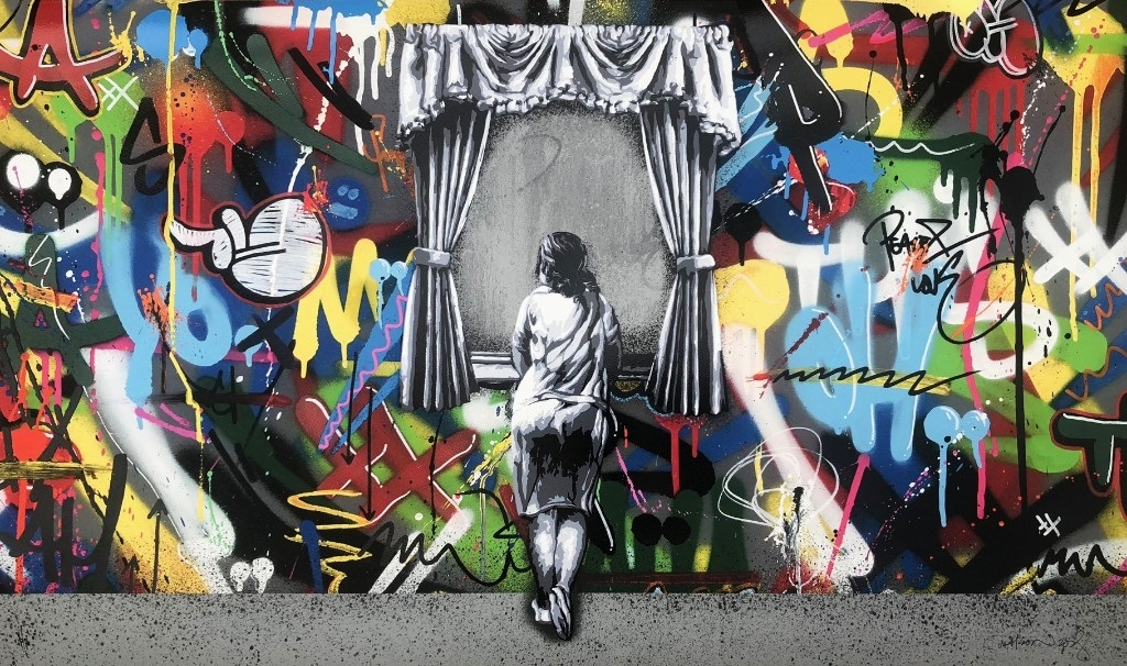 送込 マーティン ワトソン Figure at the Window ポスター< Banksy kaws DOLK Martin Whatson DOLK Dali バンクシー ドルク カウズ ダリ>